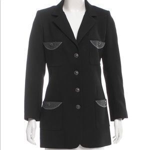 Chanel black military wool coat - authentic